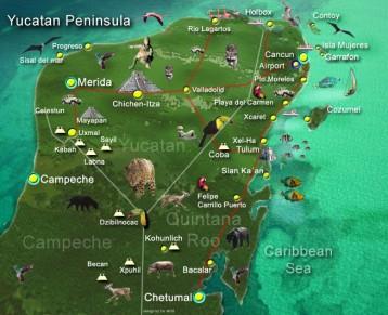 Mapa De Yucatan